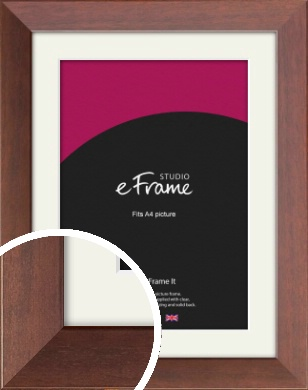 Smooth Country Brown Picture Frame & Mount, A4 (210x297mm) (VRMP-228-M-A4)