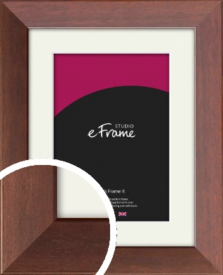 Smooth Country Brown Picture Frame & Mount (VRMP-228-M)