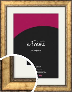 Elegant Dark Gold Picture Frame & Mount, A4 (210x297mm) (VRMP-130-M-A4)