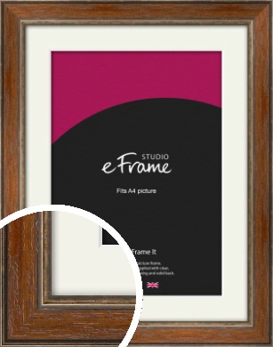 English Country Brown Picture Frame & Mount, A4 (210x297mm) (VRMP-168-M-A4)