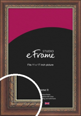 Safari Pattern Rich Brown Picture Frame, 11x17