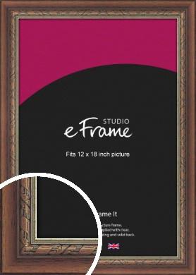 Safari Pattern Rich Brown Picture Frame, 12x18