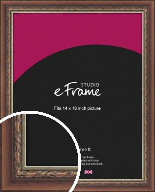 Safari Pattern Rich Brown Picture Frame, 14x18