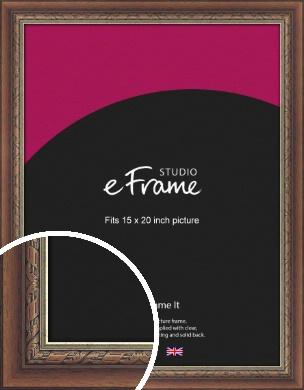 Safari Pattern Rich Brown Picture Frame, 15x20