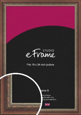 Safari Pattern Rich Brown Picture Frame, 16x24