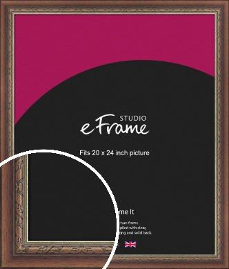 Safari Pattern Rich Brown Picture Frame, 20x24