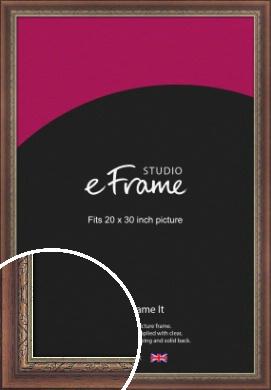 Safari Pattern Rich Brown Picture Frame, 20x30