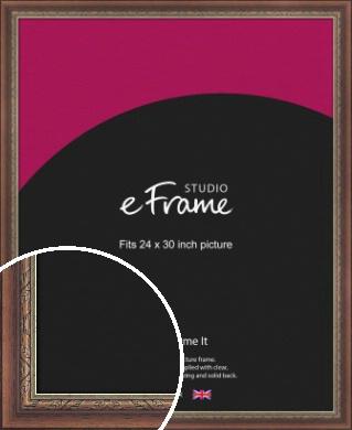 Safari Pattern Rich Brown Picture Frame, 24x30