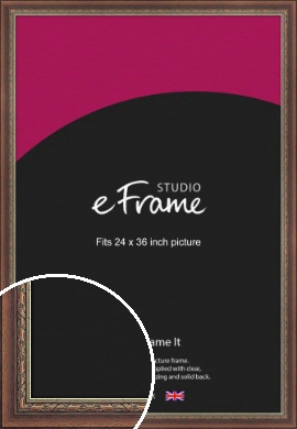 Safari Pattern Rich Brown Picture Frame, 24x36