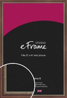 Safari Pattern Rich Brown Picture Frame, 27x41