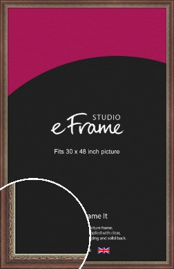 Safari Pattern Rich Brown Picture Frame, 30x48