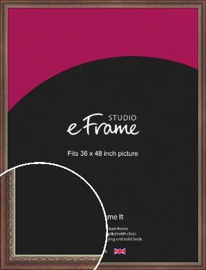 Safari Pattern Rich Brown Picture Frame, 36x48