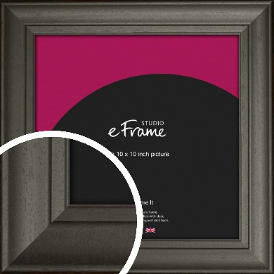 Scooped & Bevelled Black Picture Frame, 10x10