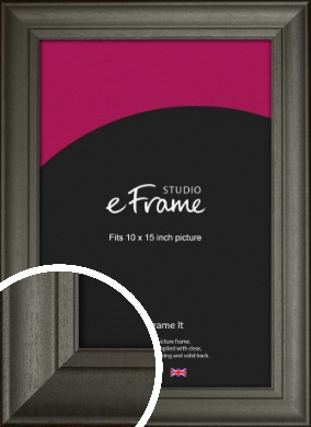 Scooped & Bevelled Black Picture Frame, 10x15