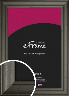 Scooped & Bevelled Black Picture Frame, 12x18