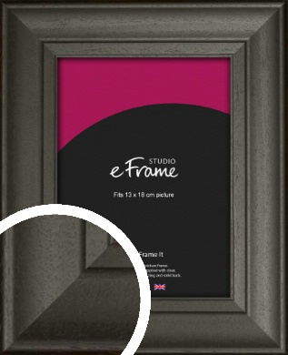 Scooped & Bevelled Black Picture Frame, 13x18cm (5x7