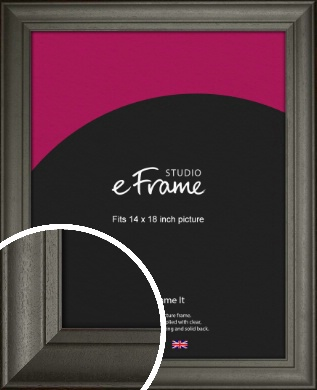 Scooped & Bevelled Black Picture Frame, 14x18