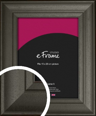 Scooped & Bevelled Black Picture Frame, 15x20cm (6x8