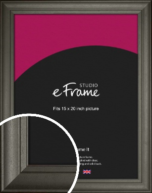 Scooped & Bevelled Black Picture Frame, 15x20