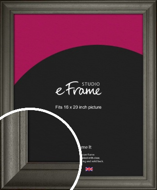 Scooped & Bevelled Black Picture Frame, 16x20
