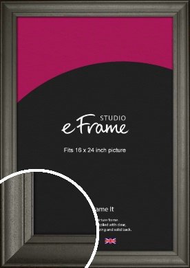 Scooped & Bevelled Black Picture Frame, 16x24