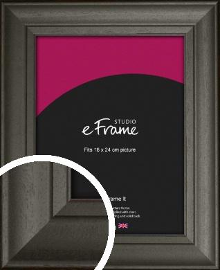 Scooped & Bevelled Black Picture Frame, 18x24cm (VRMP-748-18x24cm)