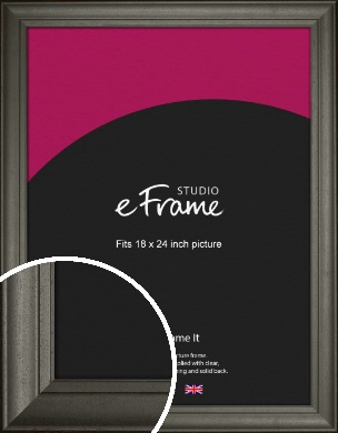 Scooped & Bevelled Black Picture Frame, 18x24