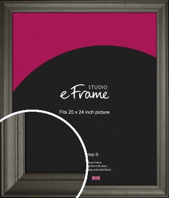 Scooped & Bevelled Black Picture Frame, 20x24