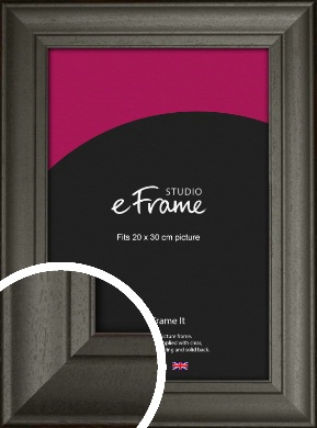 Scooped & Bevelled Black Picture Frame, 20x30cm (8x12