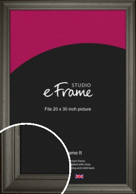 Scooped & Bevelled Black Picture Frame, 20x30