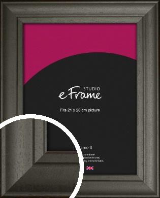 Scooped & Bevelled Black Picture Frame, 21x28cm (VRMP-748-21x28cm)