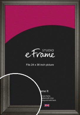 Scooped & Bevelled Black Picture Frame, 24x36