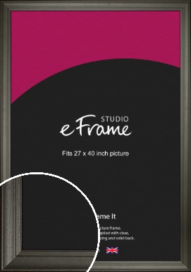 Scooped & Bevelled Black Picture Frame, 27x40