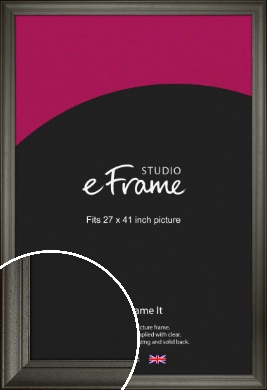 Scooped & Bevelled Black Picture Frame, 27x41