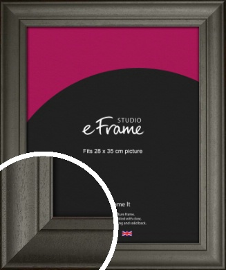 Scooped & Bevelled Black Picture Frame, 28x35cm (VRMP-748-28x35cm)