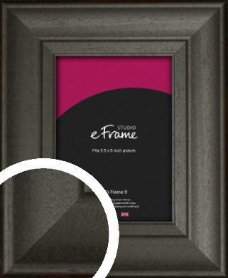 Scooped & Bevelled Black Picture Frame, 3.5x5