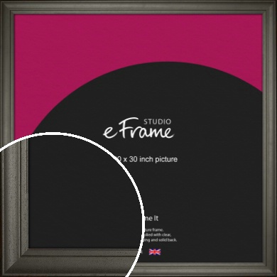 Scooped & Bevelled Black Picture Frame, 30x30