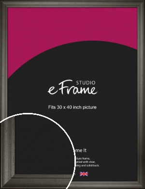 Scooped & Bevelled Black Picture Frame, 30x40