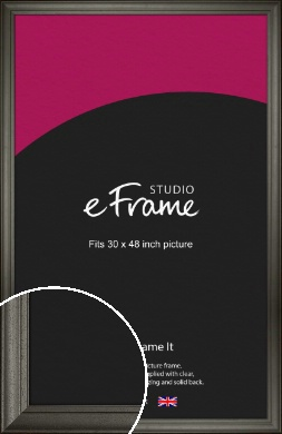 Scooped & Bevelled Black Picture Frame, 30x48