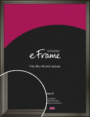 Scooped & Bevelled Black Picture Frame, 36x48