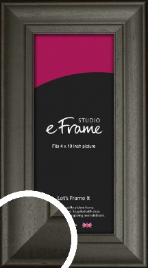 Scooped & Bevelled Black Picture Frame, 4x10