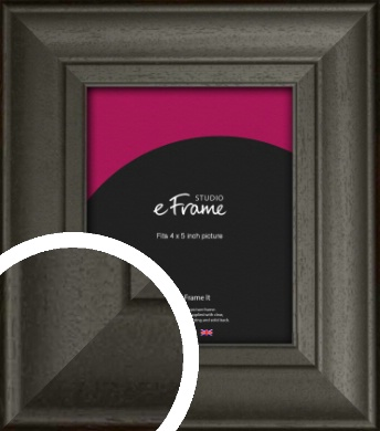 Scooped & Bevelled Black Picture Frame, 4x5
