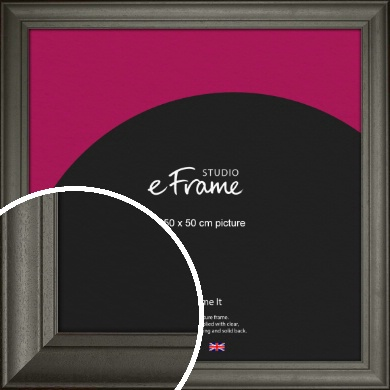 Scooped & Bevelled Black Picture Frame, 50x50cm (VRMP-748-50x50cm)