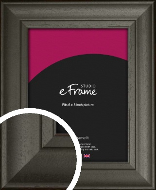 Scooped & Bevelled Black Picture Frame, 6x8
