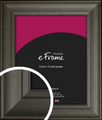 Scooped & Bevelled Black Picture Frame, 8x10