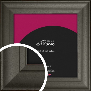 Scooped & Bevelled Black Picture Frame, 8x8