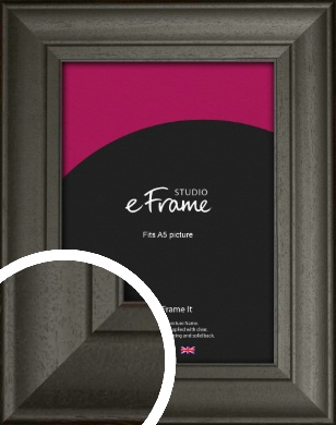 Scooped & Bevelled Black Picture Frame, A5 (148x210mm) (VRMP-748-A5)
