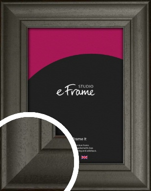 Scooped & Bevelled Black Picture Frame (VRMP-748)