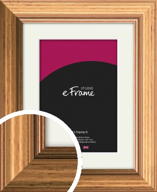 Inviting Art Deco Gold Picture Frame & Mount (VRMP-214-M)
