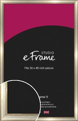 Gold & Primavera Silver Picture Frame, 30x48